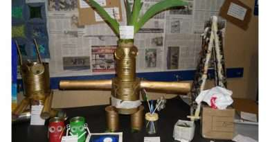 Local students show off recycled art